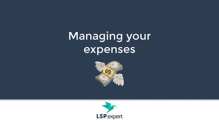 Managing your expenses